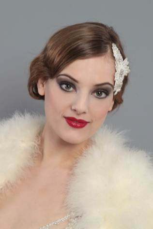 Jazz era 1920s wedding accessories by HT Headwear