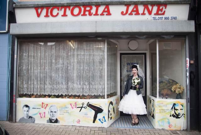 A vintage rockabilly bride wedding styled shoot in Bristol by Heartfelt Vintage