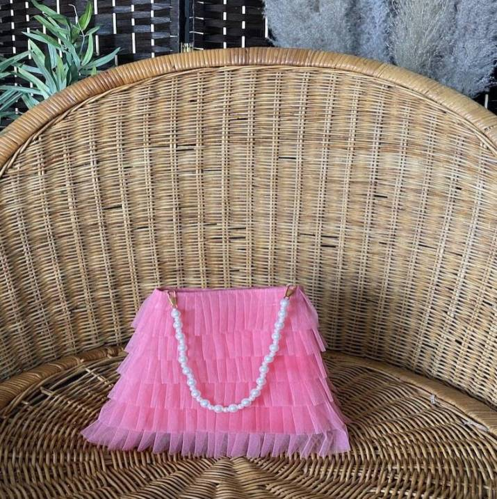 original_pink-tulle-frill-pouch-bag