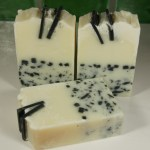 Kaolin and charcoal handmade soap