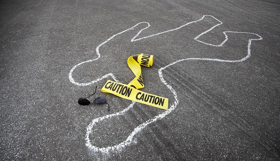 Magunga, Harriet Anena, Dead, Chalk Outline