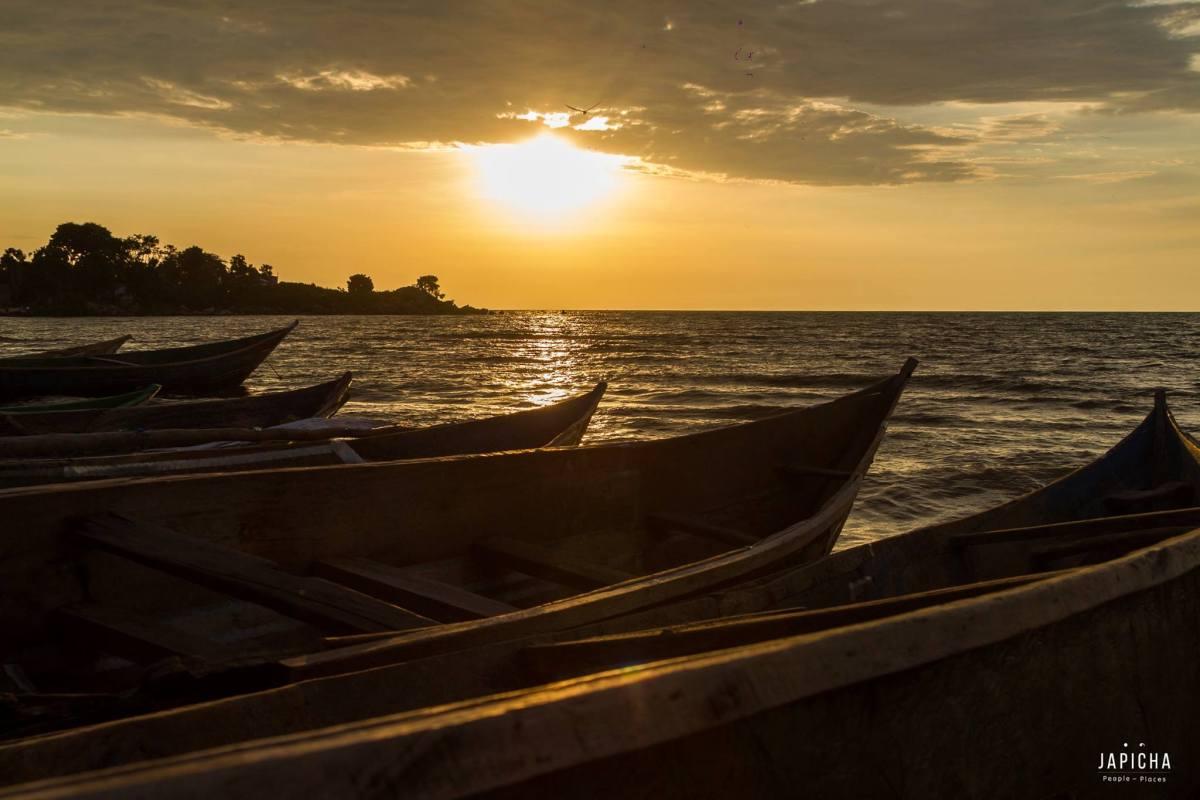 Boats, Lake Victoria Sunset