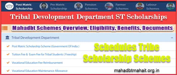 Tribal Development Department ST Scholarship List   Overview   Eligibility   Benefits & Required Document List. 1