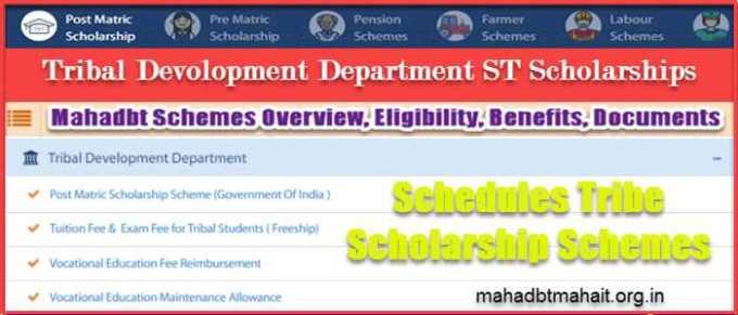 Mahadbt Scheme Tribal Scholarship ST Students Deparment List
