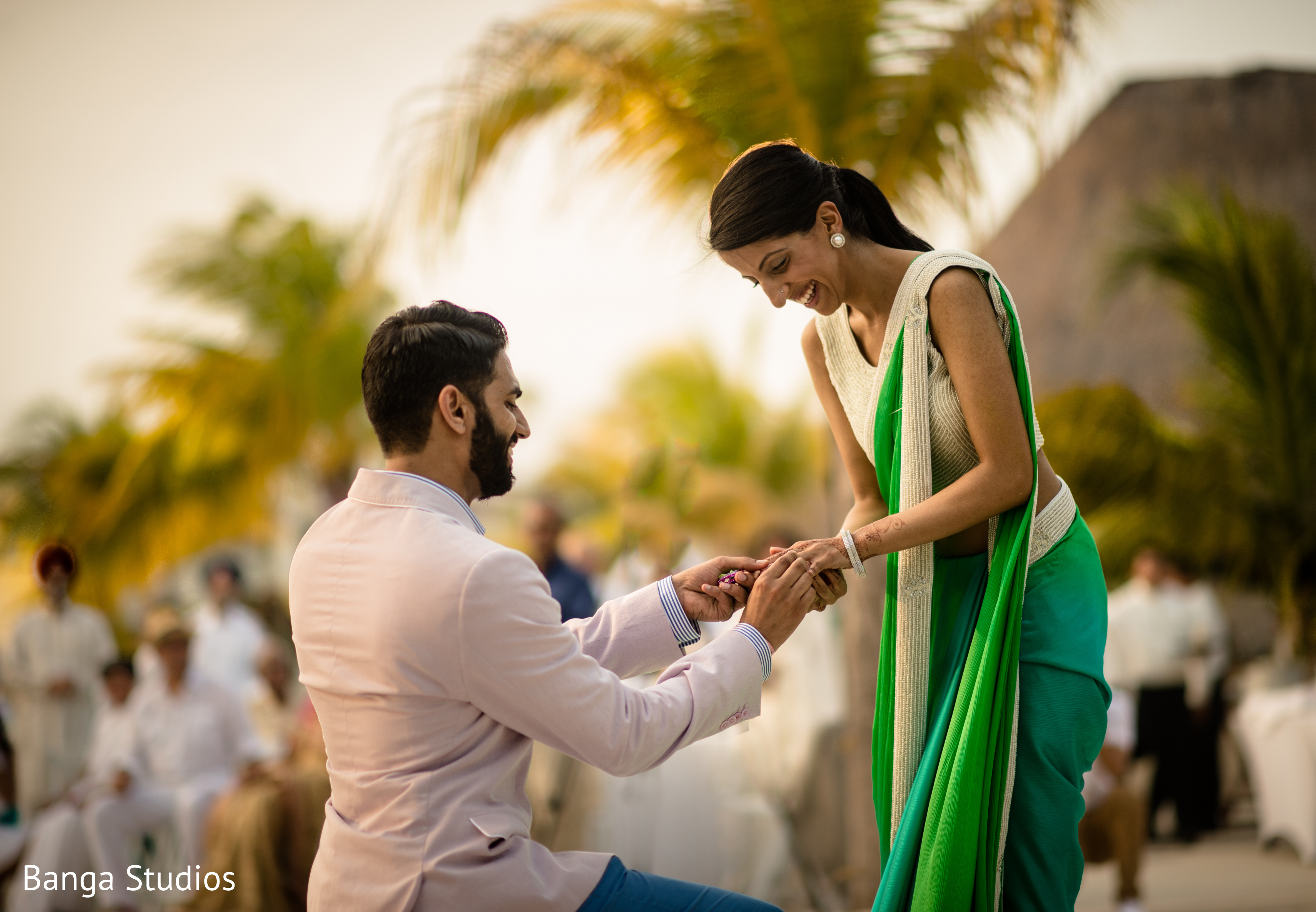 Cute Wallpapers Of Punjabi Couples Ring Ceremony Photo 24359