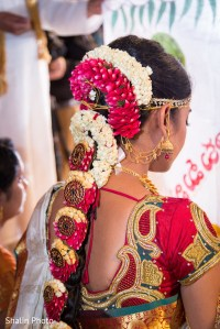 South indian bride hairstyle