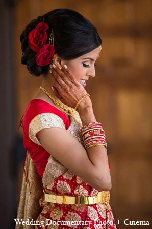 Indian Wedding Bride Mehndi Hair Roses Photo 12875