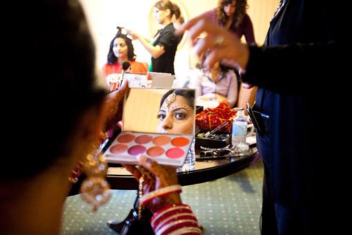 indian bride makeup wedding