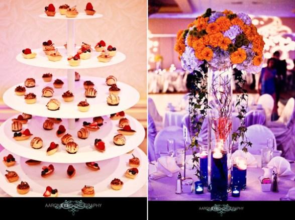 Image result for lavender and orange wedding
