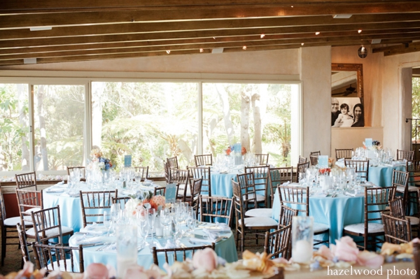 Beach Wedding Reception Decorations On With Fish Bowl Centerpieces And