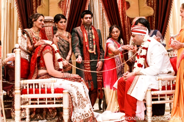 Gorgeous Indian Wedding Ceremony With Modern Mandap By