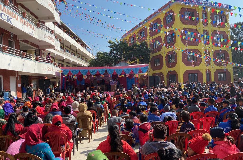 Tilingatar Secondary School inaugurates new Maharishi Vastu TM & TM-Sidhis program building in Maharajgunj, Kathmandu