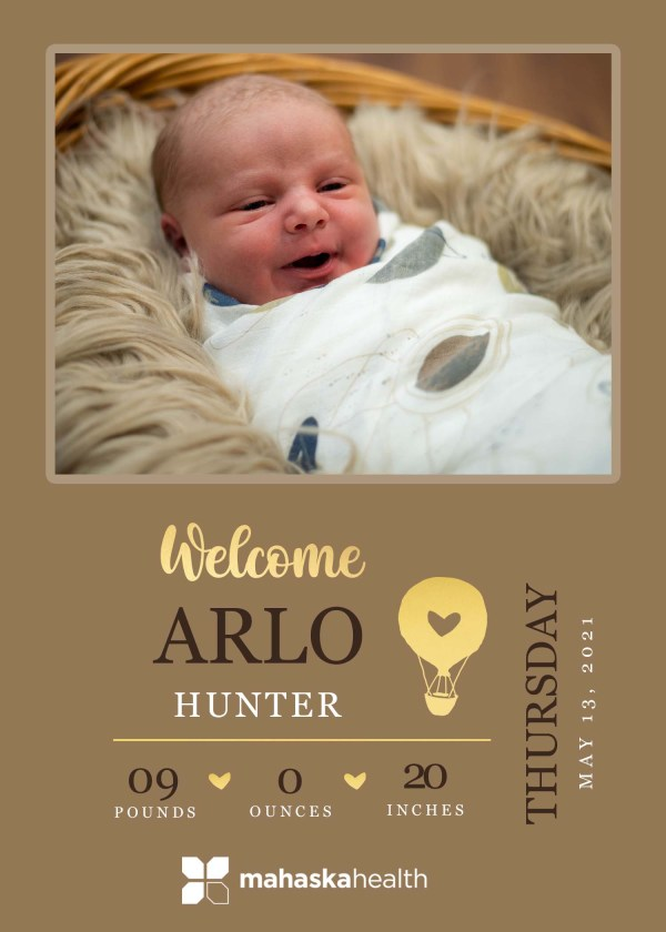 Welcome Arlo Hunter! 8