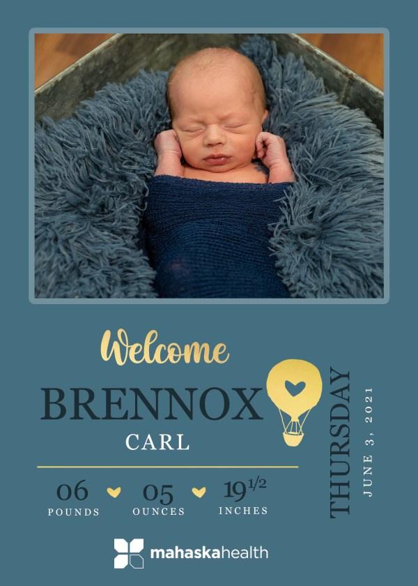 Welcome Brennox Carl! 8