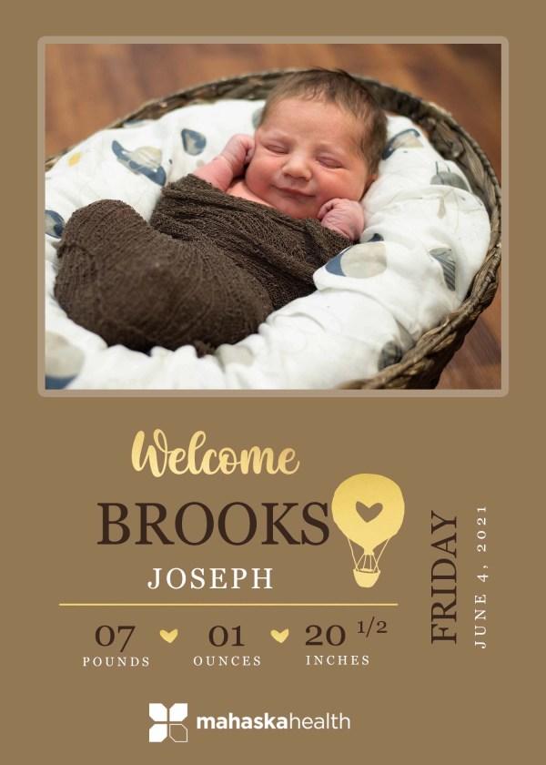 Welcome Brooks Joseph! 8