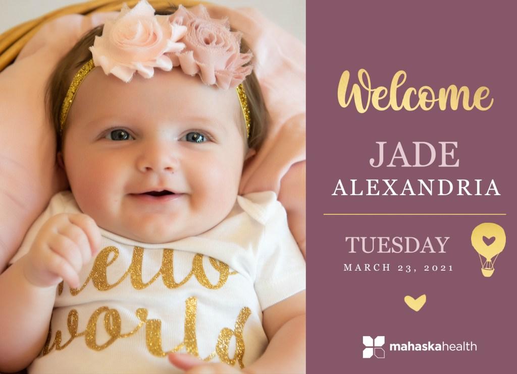 Welcome Jade Alexandria! 8