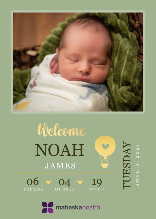Welcome Noah James! 8