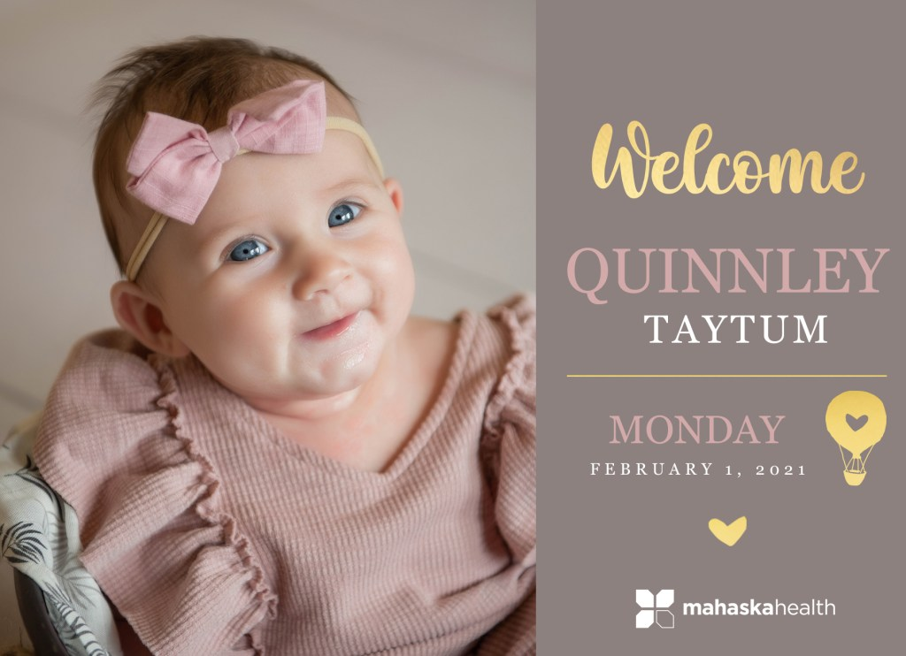 Welcome Quinnley Taytum! 8