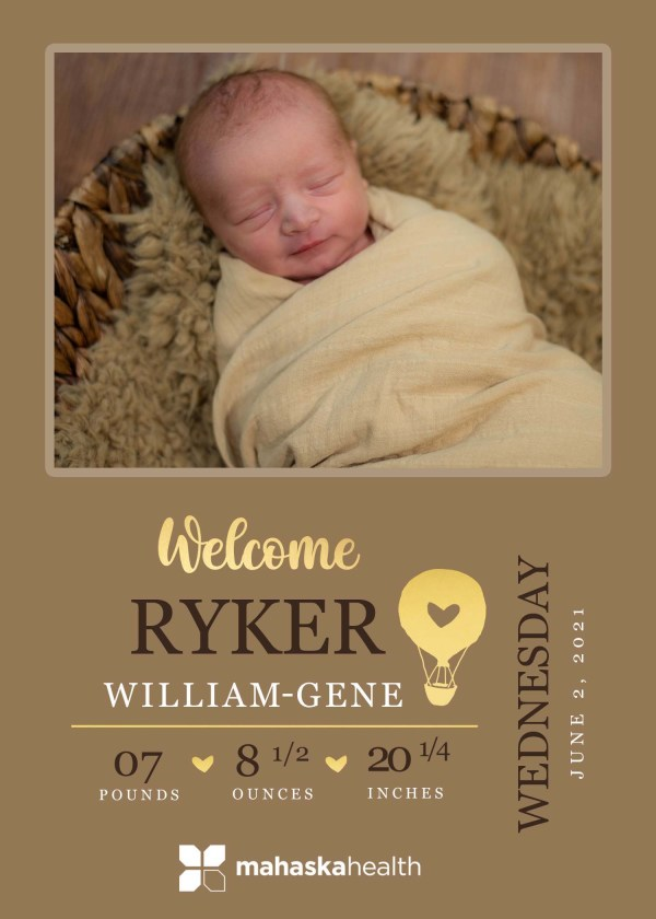 Welcome Ryker William-Gene! 8