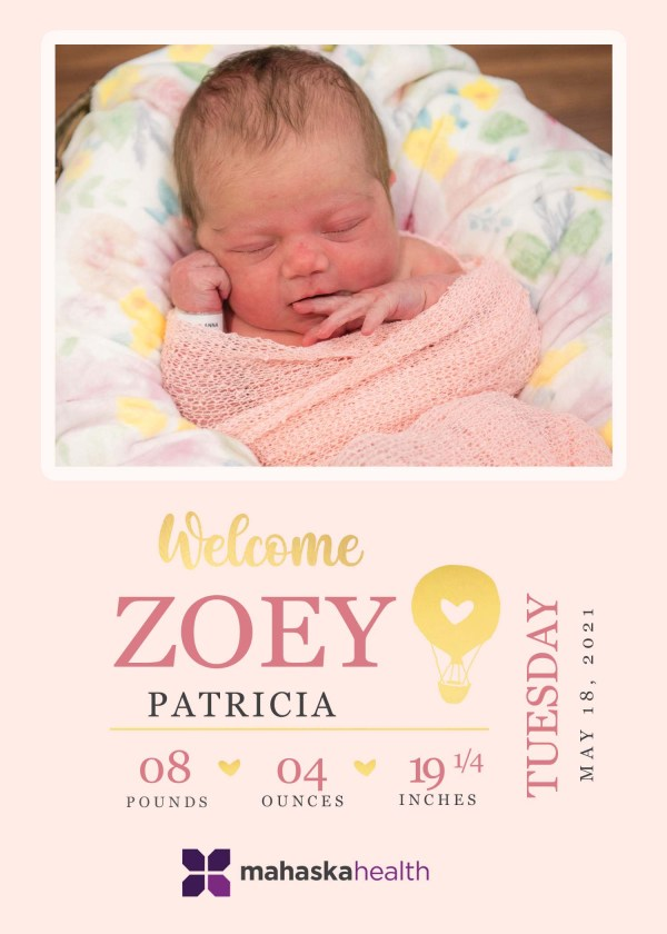 Welcome Zoey Patricia! 8