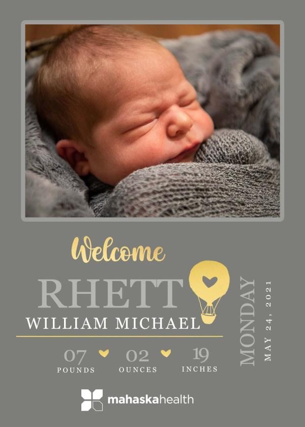 Welcome Rhett William Michael! 8
