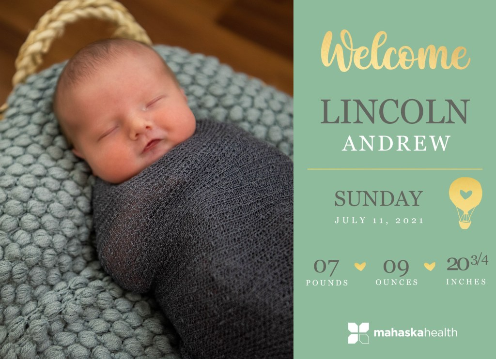 Welcome Lincoln Andrew! 8