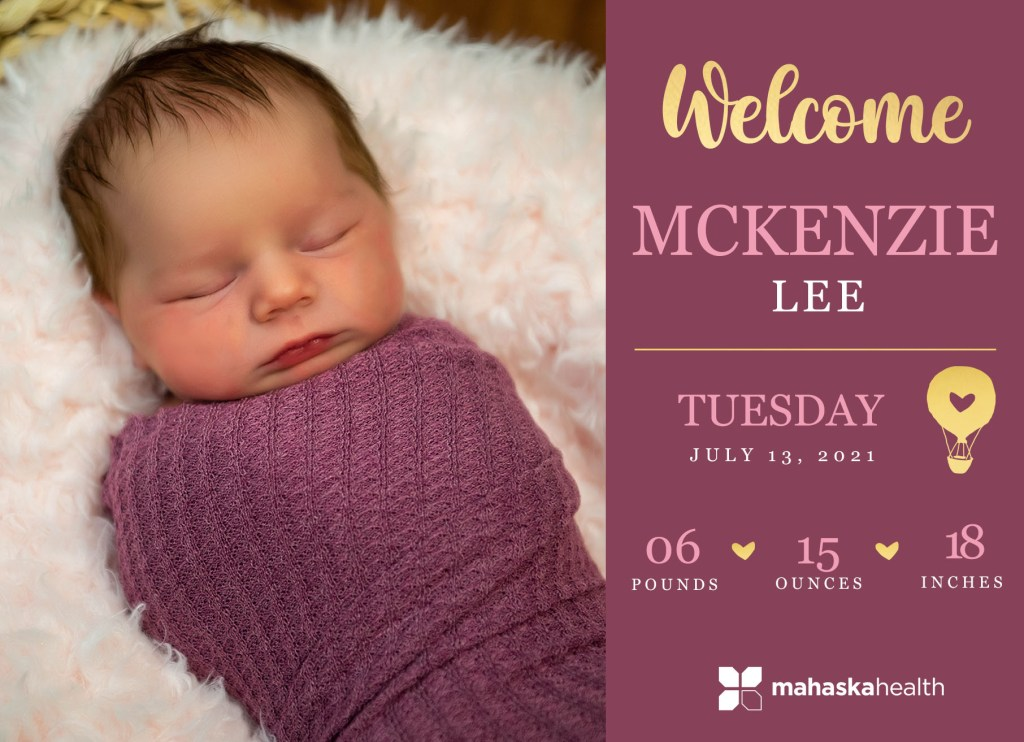 Welcome McKenzie Lee! 8