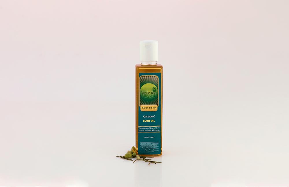 Aceite organico para el cabello