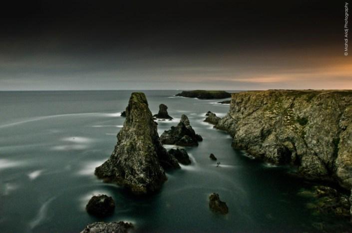 les aiguilles -port coton - belle ile en mer - bretagne -paysage