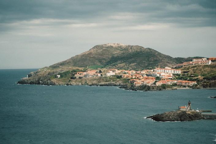 Baie de Collioure depuis mont Louis - Bay of Collioure
