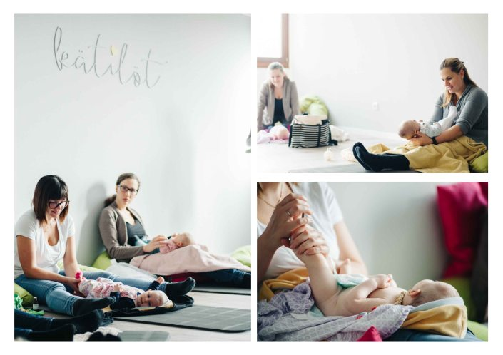 Midwife giving class of baby massage to new moms - The midwifery project - Hebammenprojekt - Projet sur les sages - femmes en Allemagne