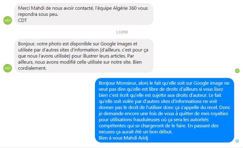 Copyright et non-respect des droits d'auteur en Algérie 15