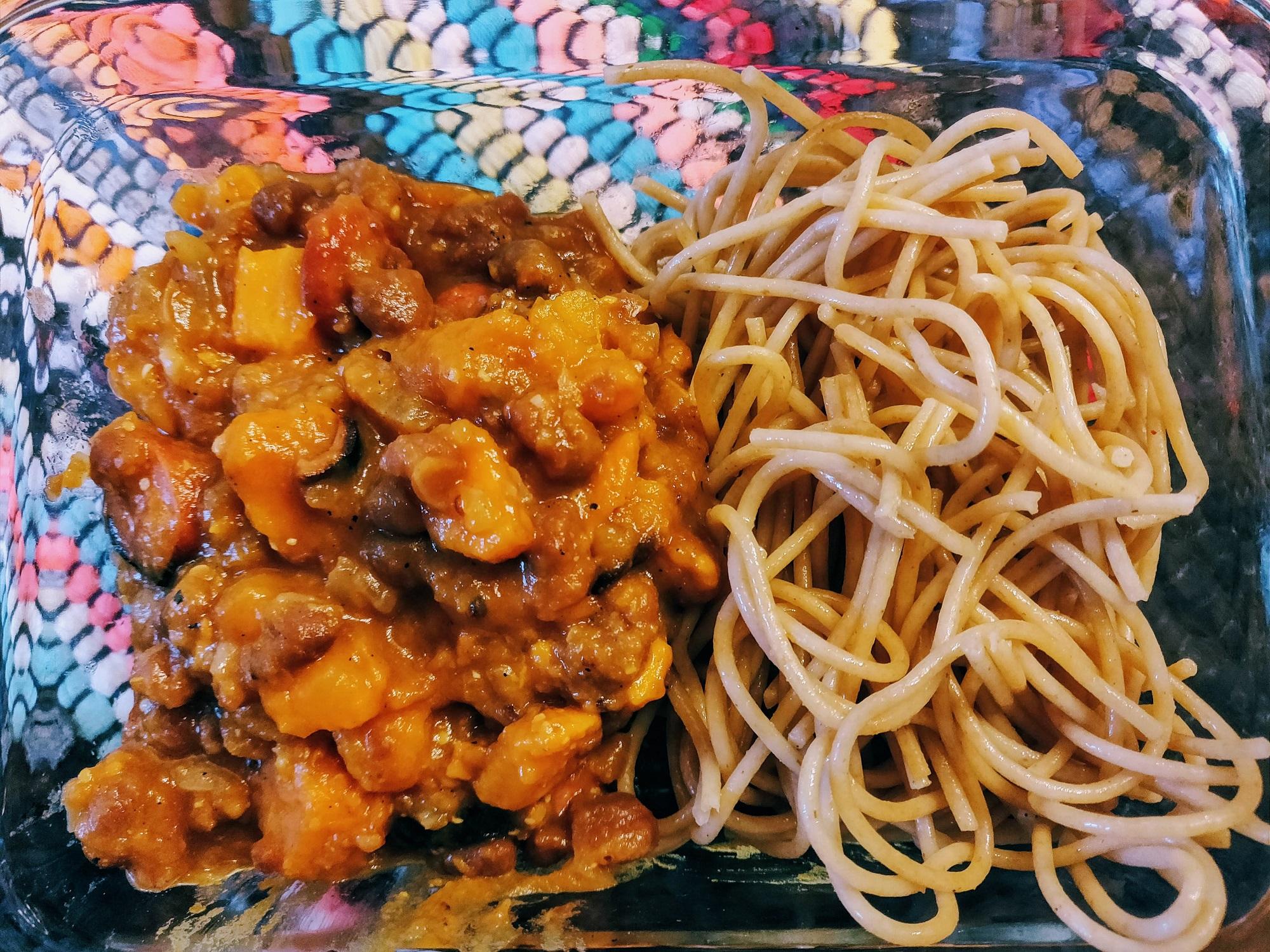 Franks & Beans & Sweet Potatoes