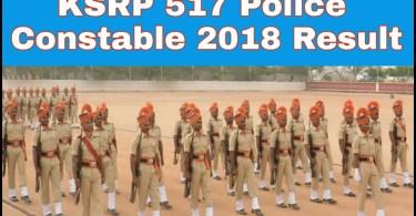 Karnataka KSRP 517 Police Constable Exam 2018 Result