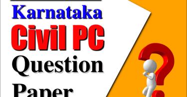 KSP Civil PC Question Papers