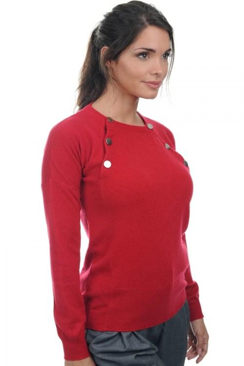 donna girocollo appoline rosso rubino xl