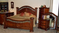 5 Piece Mansion King Size Bed Set | eBay