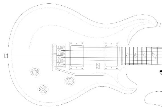 Full Scale PRS 22 Electric Guitar Plans