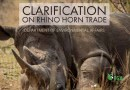 Department of Environmental Affairs Clarifies that Rhino Horn may not be Traded Internationally