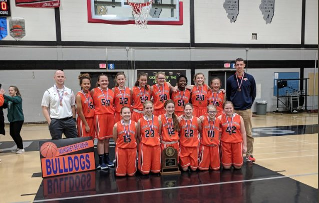 MSJHS 7th grade girls' basketball team takes fourth place