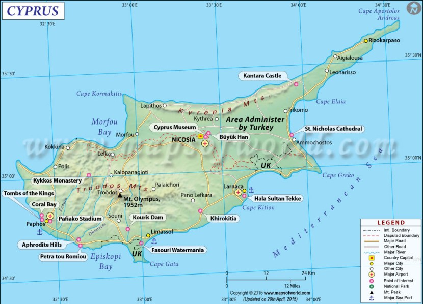 Cyprus country map