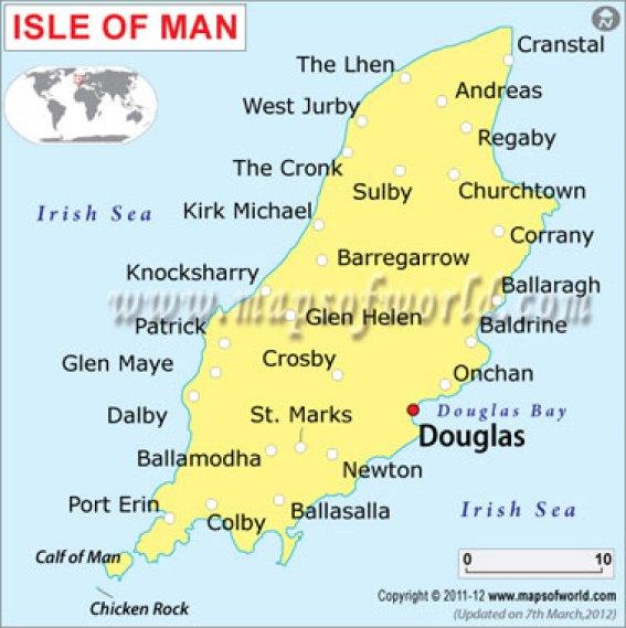 Map of Isle of Man