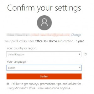 office 365 confirm subscription