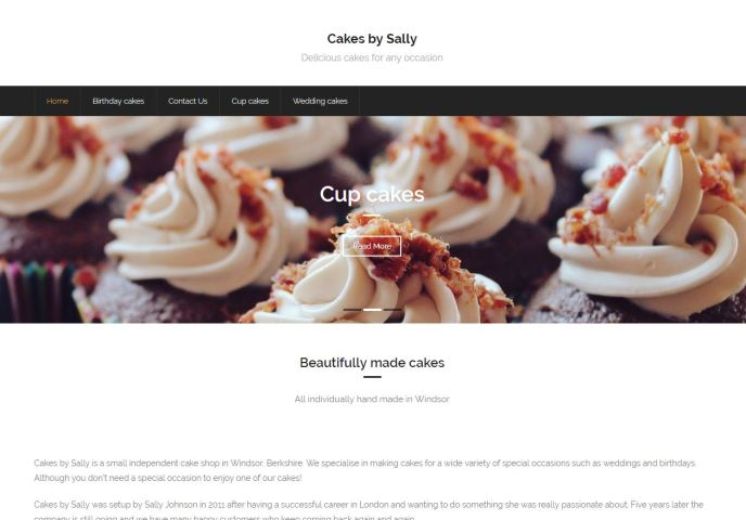 cake-website-homepage