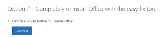 Fix Office 365 Easy Fix Tool