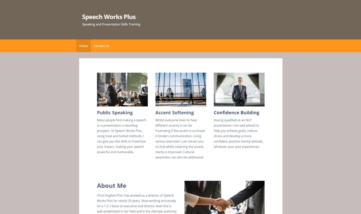 Speech Works Plus website