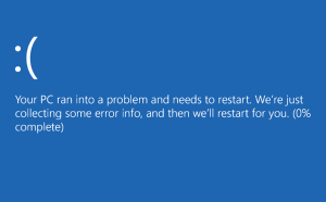 Windows BSOD error message