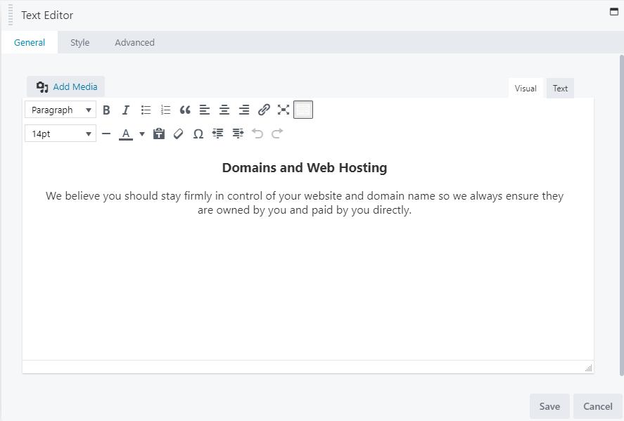 Edit text in Beaver Builder
