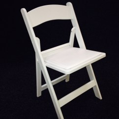 White Folding Chairs Glass Kitchen Table And For Hire Maidmans Marquees