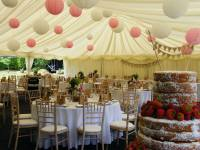 Paper lanterns. Maidmans Marquees lighting solutions